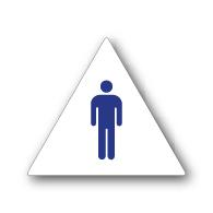 Ada Mens Restroom Wall Sign On White Rectangle 6x8 Stopsignsandmore