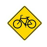 Bicycles On Road Warning Signs - 24x24 - W11-1 MUTCD Official Reflective Rust-Free Heavy Gauge Aluminum Bicycles On Road Signs