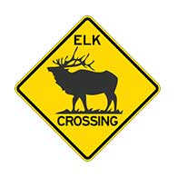 Buy Elk Crossing Road Signs - 30x30 - Reflective Heavy Gauge Rust-Free Aluminum Elk Crossing Signs
