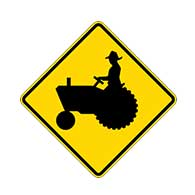 Tractors and Farm Machinery on Road Warning Signs - 24x24 - Official W11-5 MUTCD Reflective Heavy Gauge Rust-Free Aluminum Tractors On Road Signs
