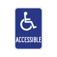ADA Disabled Access Entrance Sign with ISA Symbol - 12x18 - 3M Engineer Grade Reflective Rust-Free Heavy Gauge Aluminum ADA Access Signs