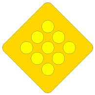 Yellow Reflector Warning Signs - 18x18 - Reflective Rust-Free Heavy Gauge Aluminum Warning Signs for Road and Parking Areas