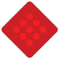 Red Reflector Warning Signs- 18x18 - Reflective Rust-Free Heavy Gauge Aluminum Parking Lot and Property Management Signs