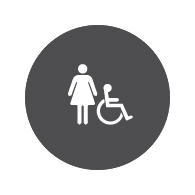 ADA Compliant and CA Title 24 Compliant Womens Restroom Door Signs with Female Symbol - Custom Colors - 12x12