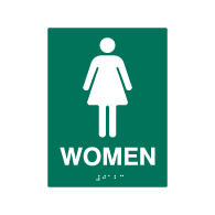 ADA Compliant Womens Restroom Wall Signs - 6x8 - Custom Colors Available