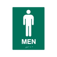 ADA Compliant Mens Restroom Wall Signs - 6x8 - Custom Colors Available