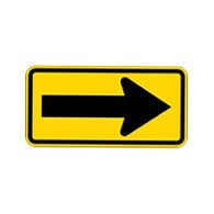 W1-6R - Right Arrow Warning Sign - 24x12 - Official MUTCD Reflective Rust-Free Heavy Gauge Aluminum Road Signs