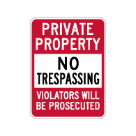 Private Property No Trespassing Sign - 18x24 - Reflective rust-free heavy-gauge aluminum No Trespassing Signs