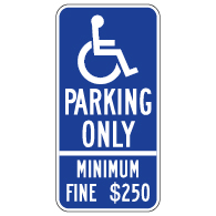 R99C California Disabled Parking Space Sign