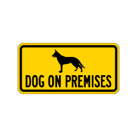 BuyDog on Premises Security Signs - 12x6 - Reflective Aluminum Guard Dog Signs