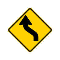 W1-4L - Left Arrow Warning Sign - Official MUTCD Reflective Rust-Free Heavy Gauge Aluminum Road Signs