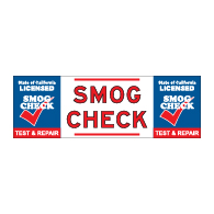 California SMOG CHECK Banner - Test And Repair - 72x24
