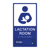 ADA Compliant Lactation Room Sign with Tactile Text and Grade 2 Braille with In-Use Slider - 6x11