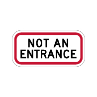 Buy Not An Entrance Signs - 12x6 - Reflective Rust-Free Durable Aluminum Property Management Signs for Building Entrances and Parking Lots
