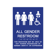 ADA Compliant All Gender Restroom Baby Changing Wall Sign - 8x11 from STOPSignsandMore. Our ADA signs meet sign regulations and will pass compliance inspections.