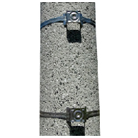 Sign Mounting Hardware for Sale: One Pair of Snap-Lok Worm Clamps Sign Mounting Kit For Large Poles