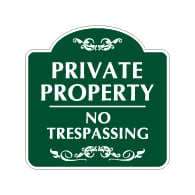Mission Style Private Property No Trespassing Sign - 18x18 - Made with 3M Reflective Rust-Free Heavy Gauge Durable Aluminum available for quick shipping from STOPSignsAndMore.com