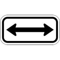Buy Double Arrow Directional Signs - 12x6 - Reflective Rust-Free Heavy Gauge Aluminum Parking Signs and Property Management Signs