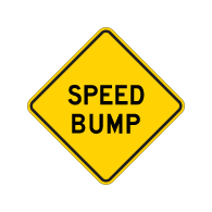 Speed Bump Warning Signs - 18x18 - Reflective Rust-Free Heavy Gauge Aluminum Road Signs. This sign meets Federal MUTCD Sign specifications for the W17-1 Speed Hump Sign.