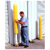 "Safety Sleeve Post Protector For Bollard Posts - 52"" - Yellow. Made with Durable Polyethylene Sleeves to Cover Bollard Posts available from STOPSignsAndMore.com"