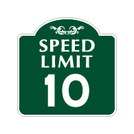 Mission Style 10-MPH SPEED LIMIT Sign - 18x18 - Made with 3M Engineer Grade Reflective Rust-Free Heavy Gauge Durable Aluminum available at STOPSignsAndMore.com