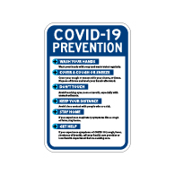 Public Health Safety Germ Prevention Sign - 12x18 - Made with Non-Reflective Rust-Free Heavy Gauge Durable Aluminum available for fast shipping from STOPSignsAndMore.com
