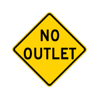 Buy No Outlet Road Warning Signs - 30x30 - Regulation MUTCD Reflective No Outlet Warning Signs on Rust-Free Heavy Gauge Aluminum.