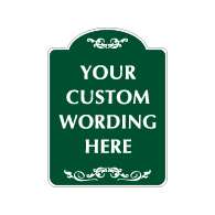 Mission Style Semi-Custom Decorative Sign - 18x24 - Made with 3M Engineer Grade Reflective Rust-Free Heavy Gauge Durable Aluminum available at STOPSignsAndMore.com