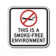 This Is A Smoke Free Environment Sign - 12x12 - Non-reflective