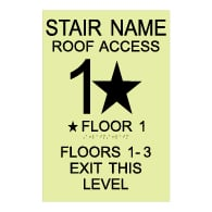 ADA Luminous International Fire Code Stair Signs with Tactile Text and Grade 2 Braille - 12x18  | Complies with International Fire Code (IFC 1022.9)
