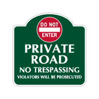 Mission Style Do Not Enter Private Road Sign - 18x18 - Made with 3M Reflective Rust-Free Heavy Gauge Durable Aluminum available for quick shipping from STOPSignsAndMore.com