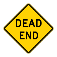 Dead End Road Signs - 30x30 - Regulation MUTCD W14-1 Reflective Dead End Warning Signs on Rust-Free Heavy Gauge Aluminum