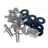 Aluminum Drive Rivets - 10 Pack - For Mounting Signs in Square Posts