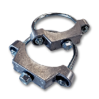 Sign Mounting Hardware for Sale: One Pair of U-Clamp Hardware for Mounting Signs to 2-7/8 inch Round Posts