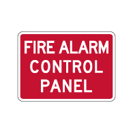 Fire Alarm Control Panel Sign - 14x10 - Made with Engineer Grade Reflective Rust-Free Heavy Gauge Durable Aluminum available at STOPSignsAndMore.com
