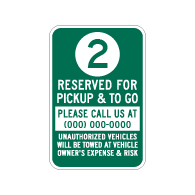 Semi-Custom Reserved Space Number Parking Sign - 12x18 - Made with Engineer Grade Reflective Rust-Free Heavy Gauge Durable Aluminum available at STOPSignsAndMore.com