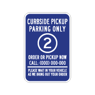 Semi-Custom Curbside Space Number Paking Sign - 12x18 - Made with Engineer Grade Reflective Rust-Free Heavy Gauge Durable Aluminum available at STOPSignsAndMore.com