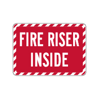 Fire Riser Inside Sign - 14x10 - Property Management Signs Made with 3M Reflective Rust-Free Heavy Gauge Durable Aluminum available at STOPSignsAndMore.com
