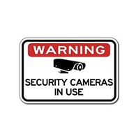Warning Security Cameras In Use Sign - 18X12 - Reflective rust-free heavy-gauge aluminum Video Security Signs