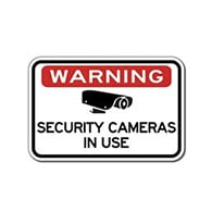 Warning Security Cameras In Use Sign - 24X18 - Reflective rust-free heavy-gauge aluminum Video Security Signs