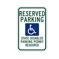 Washington State Reserved Parking State Disabled Parking Permit Required Handicap Parking Sign 12x18 Reflective Heavy-Gauge Aluminum Handicapped Parking sign for Washington State