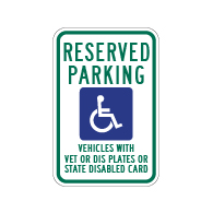 R7-8WI Wisconsin State Disabled Reserved Parking Sign - 12x18