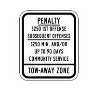 New Jersey State Supplemental Handicap Parking Penalty Sign 10x12 Reflective rust-free heavy-gauge (.063) Handicapped Parking Signs