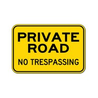 Private Road No Trespassing Warning Signs - 18x12 - Reflective Rust-Free Heavy Gauge Aluminum Private Property Signs