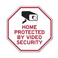 Home Protected By Video Security STOP Sign - 12x12 - Reflective rust-free heavy-gauge aluminum security sign