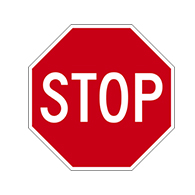 18x18 STOP Signs- High Intensity Prismatic Reflective R1-1 STOP Signs on Heavy Gauge (.080) Aluminum