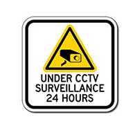 Under CCTV Surveillance 24 Hours Sign - 12x12