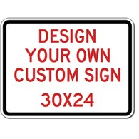 Custom Reflective Sign - 30X24 Size - Vertical Rectangle - High-quality Rust-free and Heavy-duty Reflective Aluminum Custom Signs