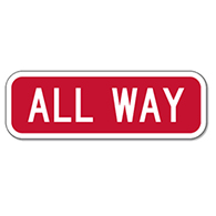 R1-4 ALL-WAY STOP Sign Plaque - 18x6 - Engineer Grade Prismatic Reflective Sheeting on Rust-Free Heavy Gauge Aluminum