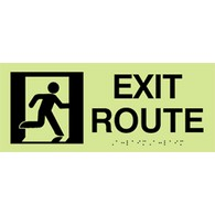 ADA Compliant Luminous Exit Route Signs with Pictogram - 12x5 - MEA 203-08-M Certified Material